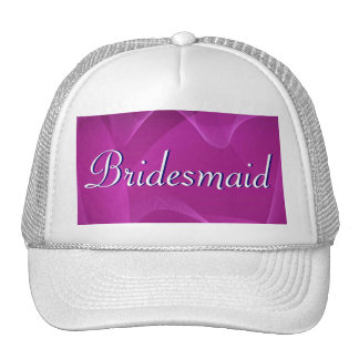 Purple Waves Bridesmaid Trucker Hat