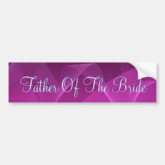 Purple Waves Father Of The Bride Bumper Sticker