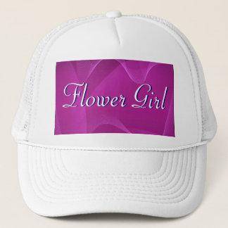 Purple Waves Flower Girl Trucker Hat
