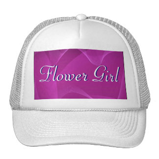 Purple Waves Flower Girl Trucker Hat