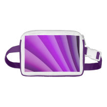 Purple Waves of Pain Art Fanny Pack