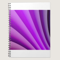Purple Waves of Pain Art Notebook