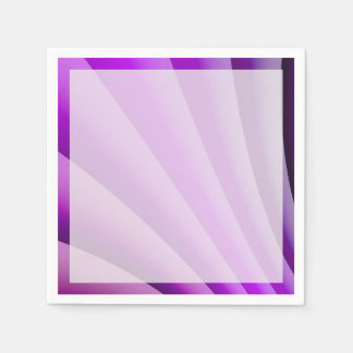 Purple Waves of Pain Art Paper Napkin