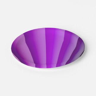 Purple Waves of Pain Art Paper Plate