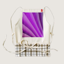 Purple Waves of Pain Art Zazzle HEART Apron
