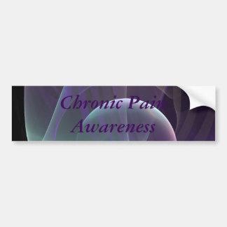 Purple Waves of Pain Bumper Sticker