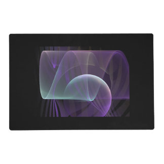 Purple Waves of Pain Laminated Placemat