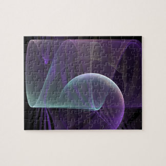Purple Waves of Pain Jigsaw Puzzle
