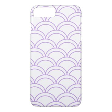 Beach Themed Purple Waves Pattern Nautical iPhone 8 Plus/7 Plus Case