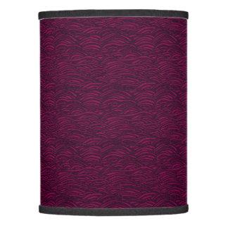 Purple waves pattern. Sea texture. Lamp Shade