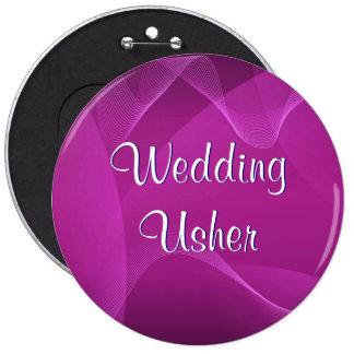 Purple Waves Usher Pinback Button
