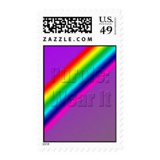 Purple: Wear It - Vertical Postage