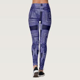 Purple Weave Geometric Leggings