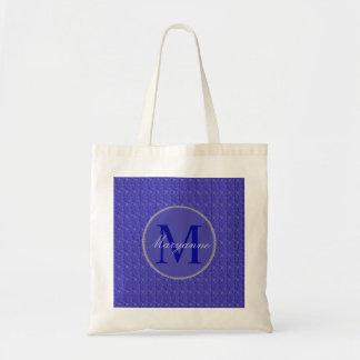 Purple Weave Glitzy Custom Monogram Tote Bag