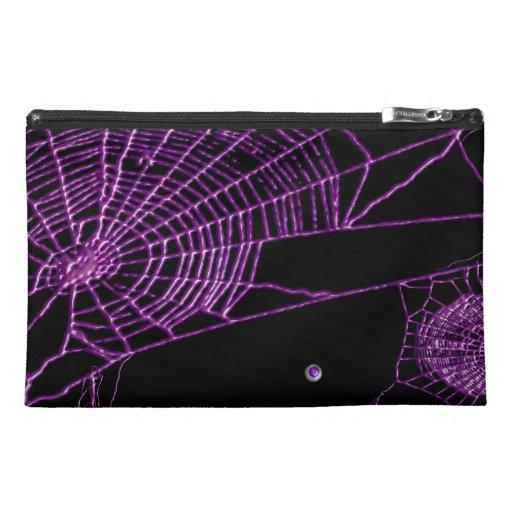 purple webbie travel accessory bags