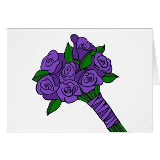 Purple Wedding Bouquet Card