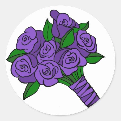 Purple Wedding Bouquet Sticker