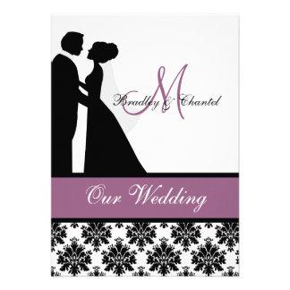 Purple Wedding Couple Wedding Invitation