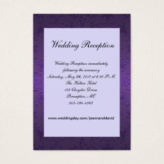 Purple Wedding Enclosure Card