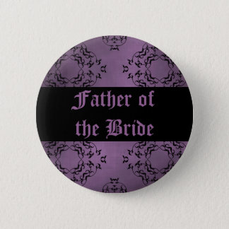 Purple wedding Father of the Bride Pinback Button