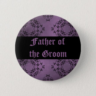 Purple wedding Father of the Groom Button