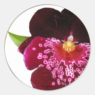 Purple Wedding Flowers Envelope Seals
