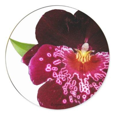 Purple Wedding Flowers Envelope Seals Round Stickers by naturalilly