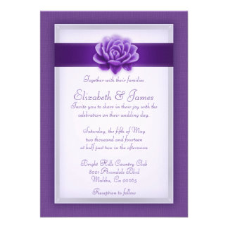 Purple Wedding Invitations Announcement