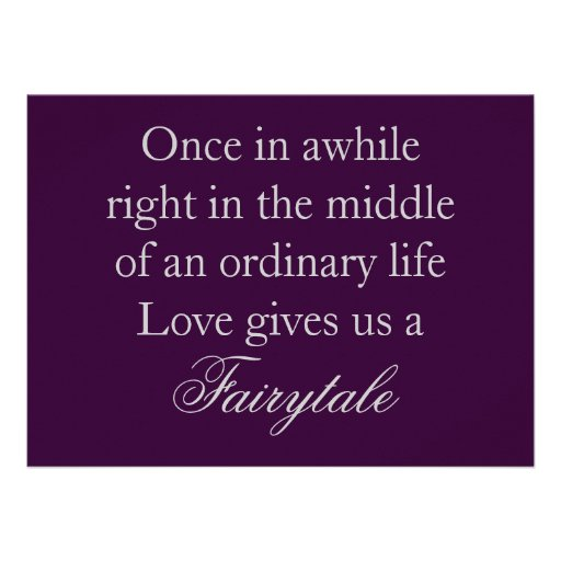 Purple Wedding Invitations with Love Quote