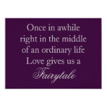 Purple Wedding Invitations with Love Quote