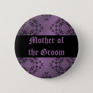Purple wedding Mother of the Groom Button