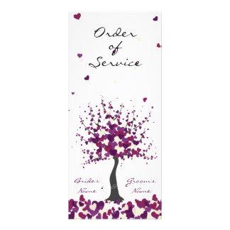 Purple Wedding Order of Service Program Custom Rack Cards