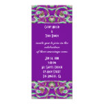 purple  wedding personalized announcements