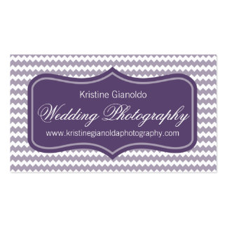 Purple Wedding Photographer Business Cards