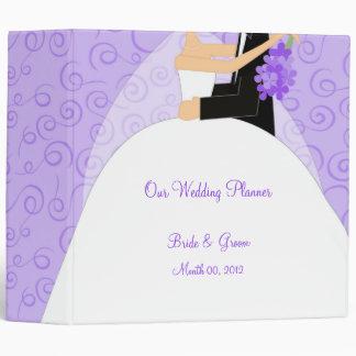 Purple Wedding Planner Binder 2-inch