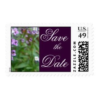 Purple Wedding Postage Stamp