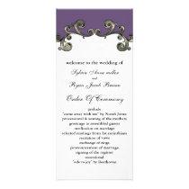 purple Wedding program