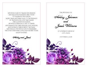 church wedding programs zazzle