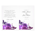 Purple Wedding Program Folded. Church Ceremony at Zazzle