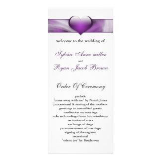 purple Wedding program Personalized Rack Card