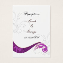 purple wedding Reception Cards
