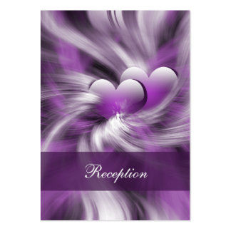 purple wedding Reception Cards Business Card