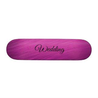 Purple Wedding Custom Skateboard