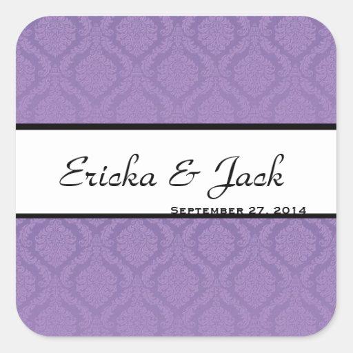 Purple Wedding Sticker