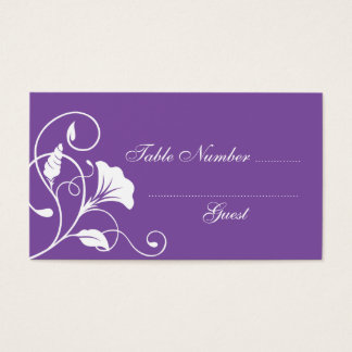 Purple Wedding Table Assignment Place Cards