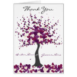 Purple Wedding Thank You Note Card