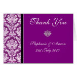 Purple Wedding Thank You Notes Greeting Cards