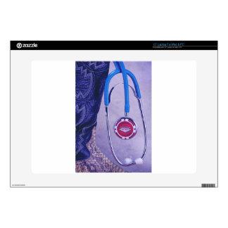 "Purple Western Boot Doctor Gambling Stethoscope 15"" Laptop Skins"