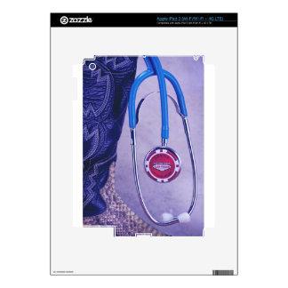 Purple Western Boot Doctor Gambling Stethoscope iPad 3 Decals