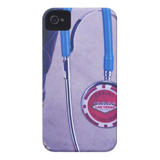 Purple Western Boot Doctor Gambling Stethoscope iPhone 4 Case-Mate Case